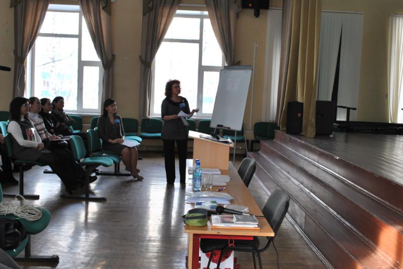 Teachers presenting